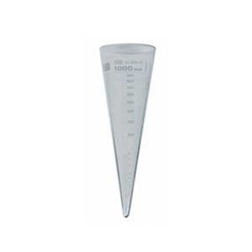 Glass graduated imhoff cone